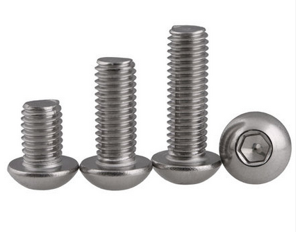 Round head socket head cap screws