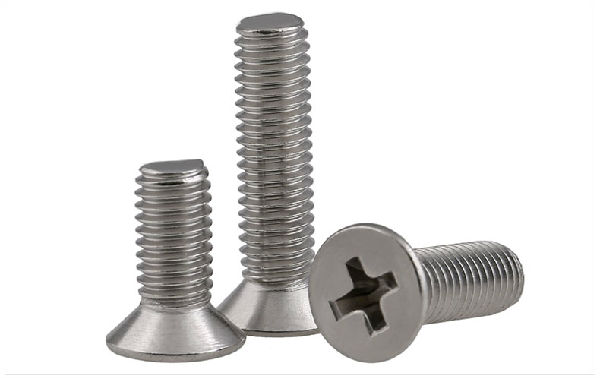 Cross countersunk machine screw